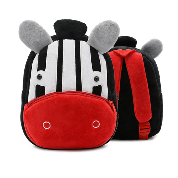 3D Cartoon Plush Animal Kids Children Backpacks Kindergarten Bag