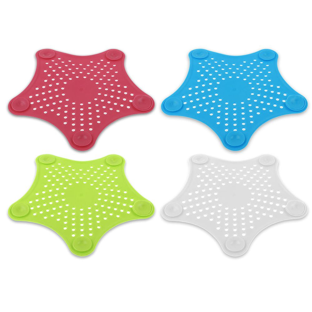 4 Pack Bathroom Drain Hair Catcher Sink Strainer Filter Shower Cover