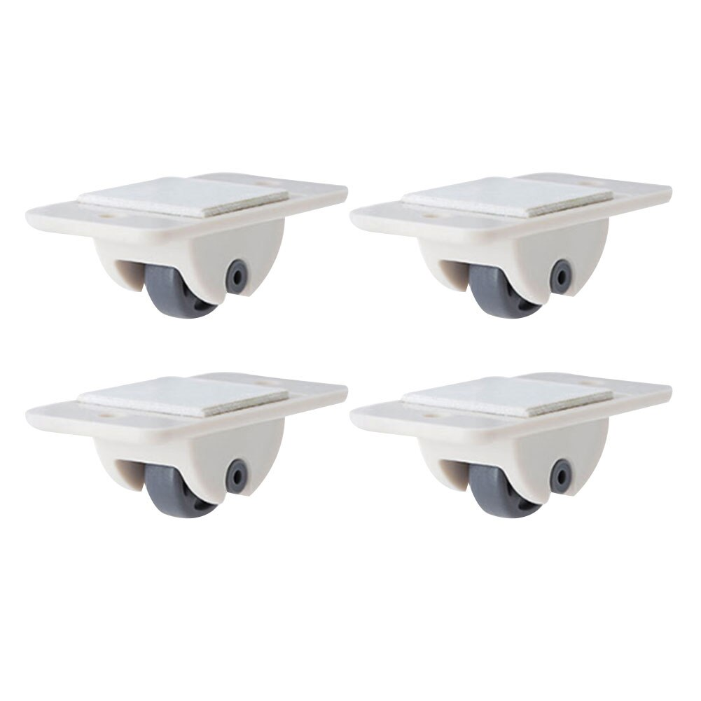 4Pcs Storage Box Pulley Self Adhesive Casters Wheels