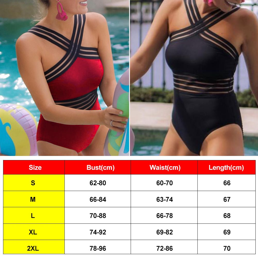 Sexy Womens Bling One Piece Bathing Monokini Push Up Bikini Swimwear