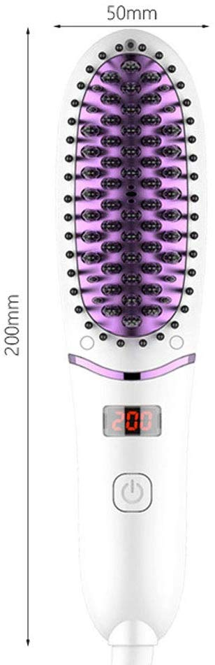 Five-speed Adjustment Electric Anti Scald Hair Straightening Comb Brush with LED Display