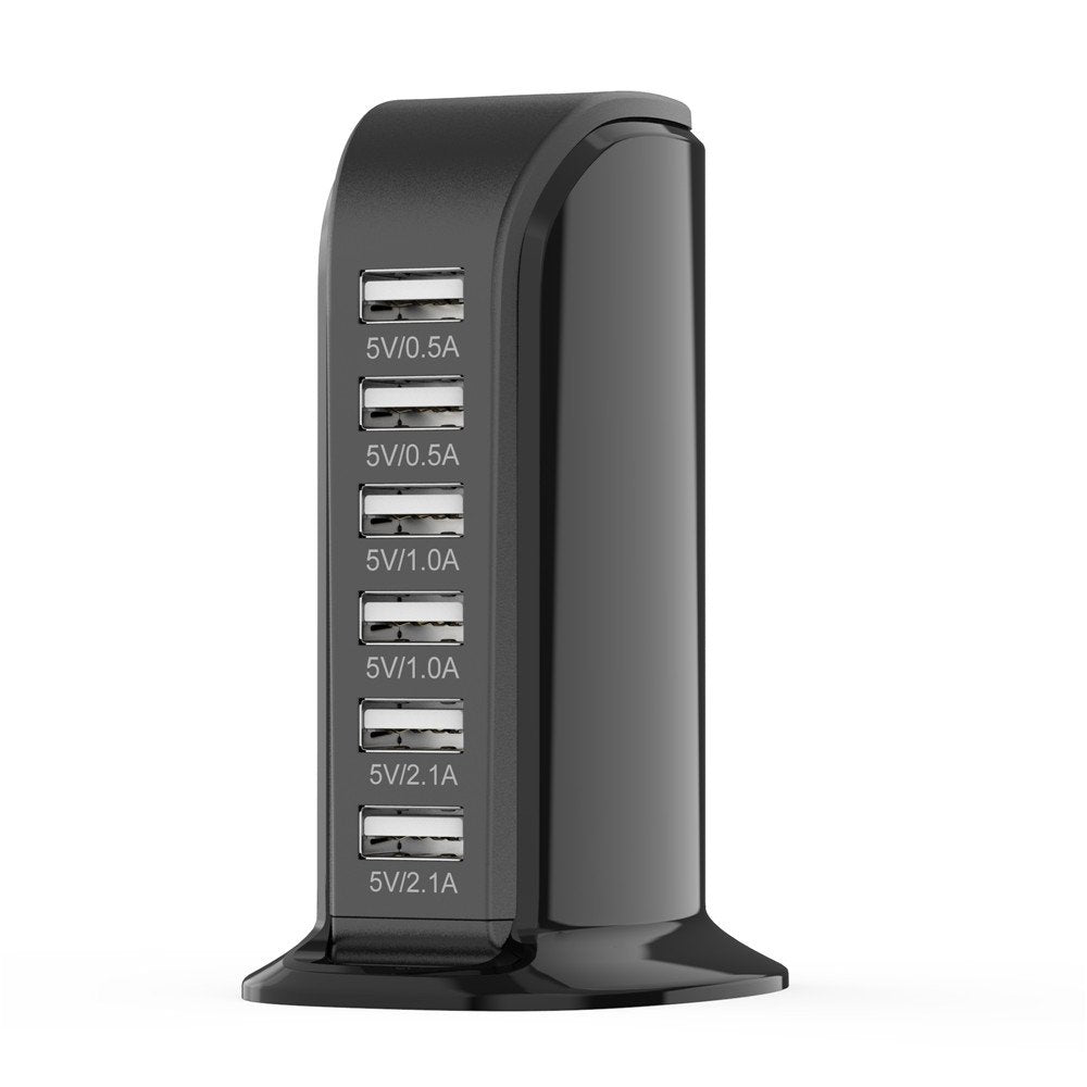 6 Port USB Charging Station Desktop Charger Wall Charger