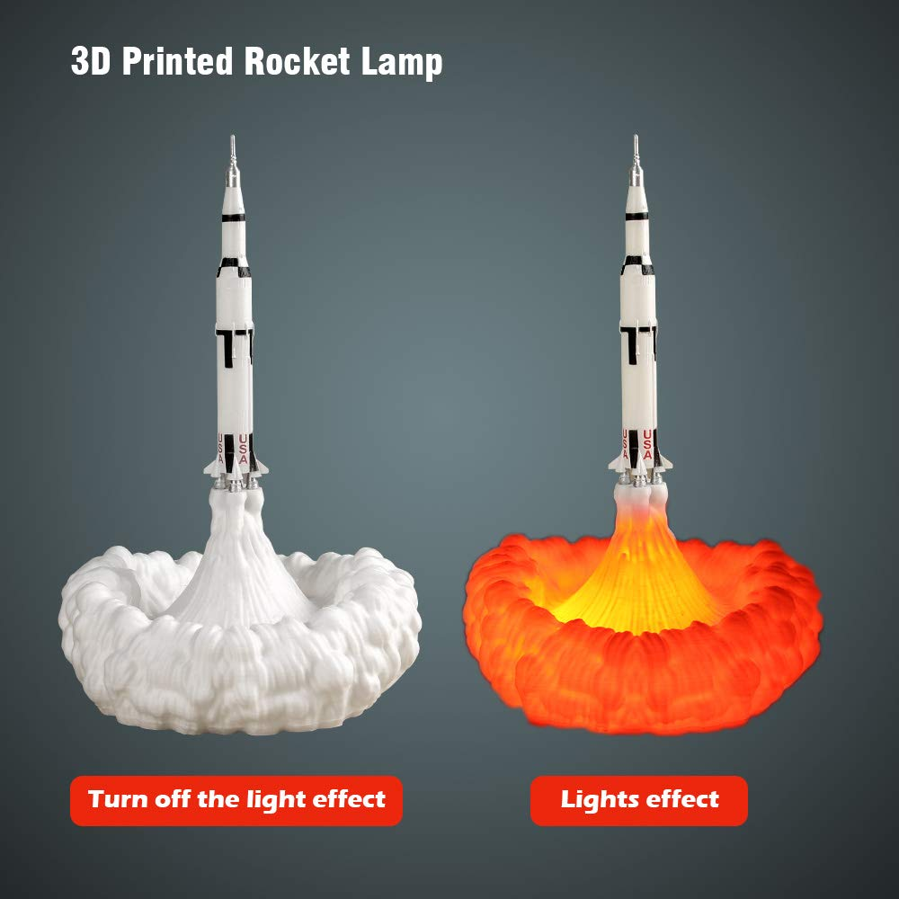 3D Printing Space Shuttle Night Light Rocket Lamp