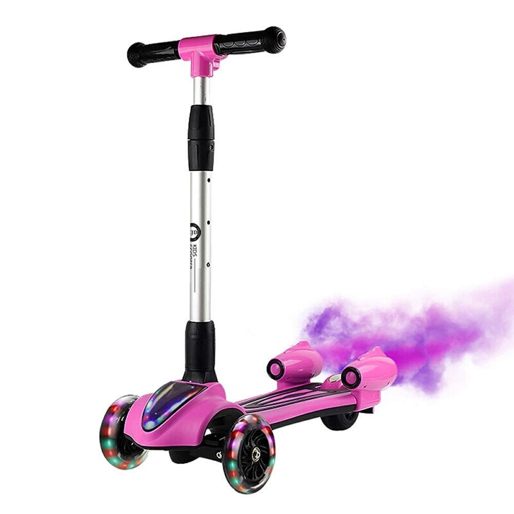 Adjustable Handlebar 3 Wheel Scooter Toddler Spray Scooter
