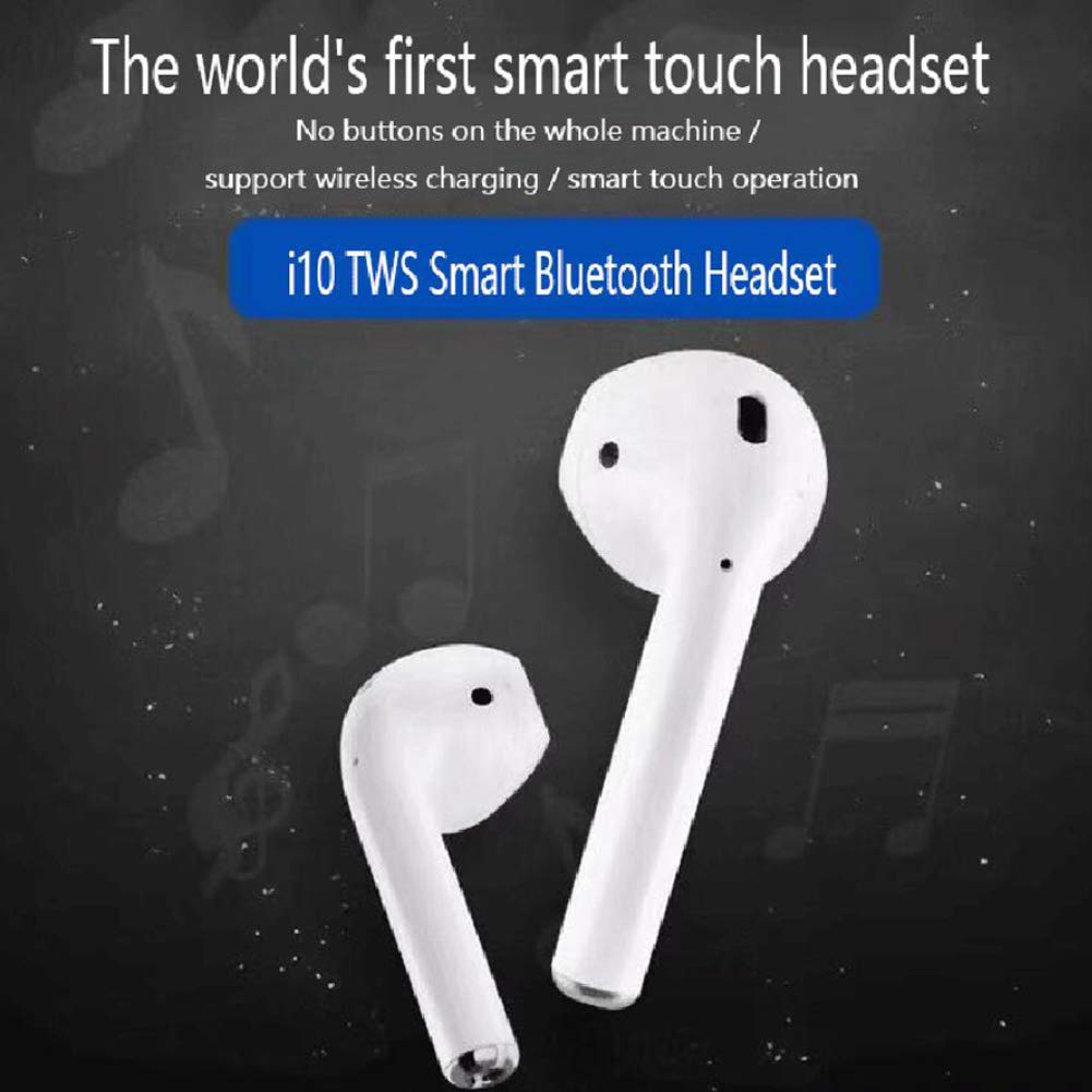 i10 TWS Wireless Bluetooth Stereo Earbuds Headphones