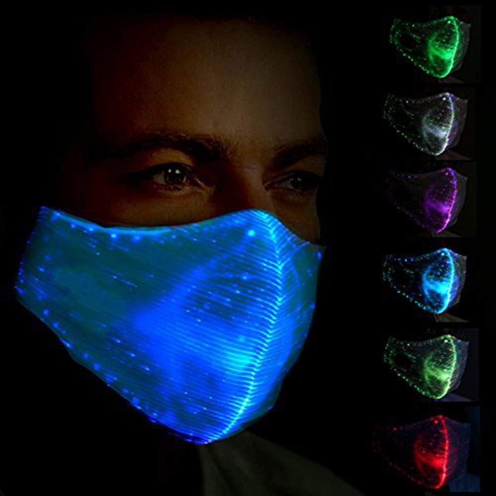 LED Flashing Mask 7 Color Luminous Light