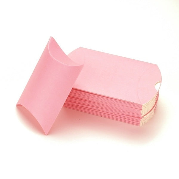 100 Pcs Colorful Pillow Shape Candy Gift Box Paperboard