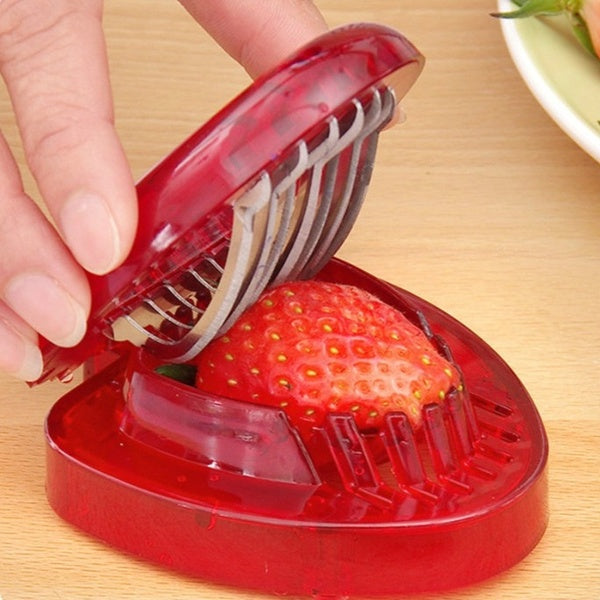 Strawberry Slicer Fruit Carving Tools Salad Cutter