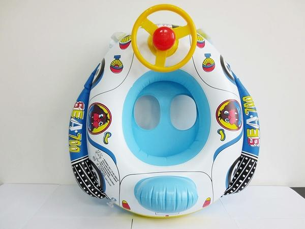 Summer Steering Wheel Swimming Ring Car Inflatable Kids Baby Float Seat Boat Pool