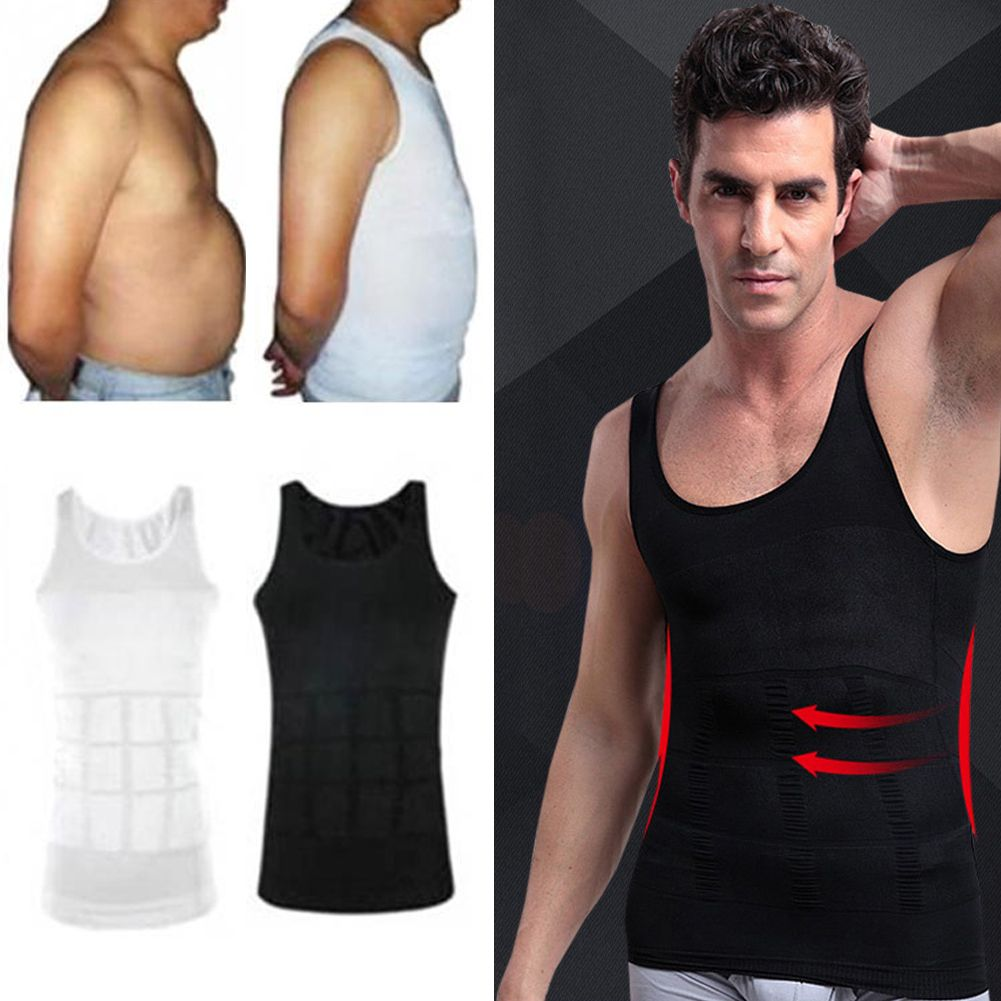 Men Slim Slimming Stretch Top Shirt Waist Body Shaper Vest