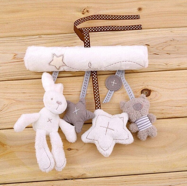 Baby Rattle Cot Hanging Rattle Toy Soft Plush Musical Toy