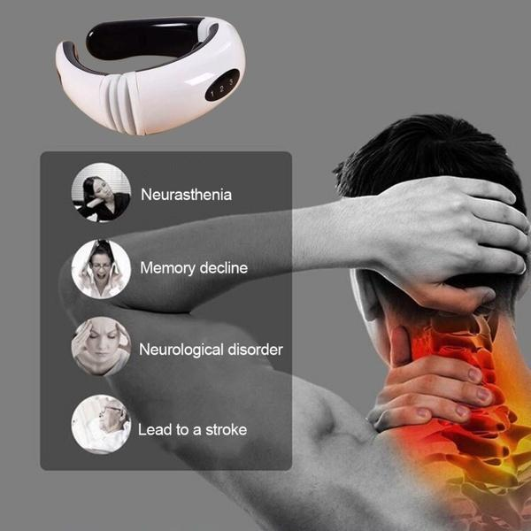 Multifunctional Neck Massager Cervical Massager Physiotherapy Electrode Pads Cervical Device Wireless