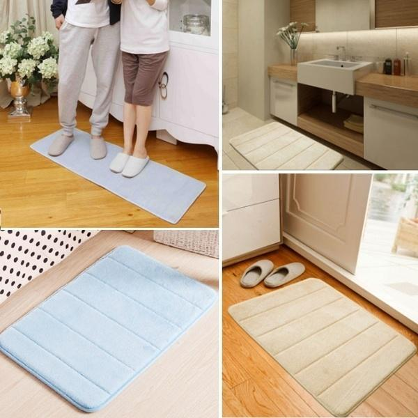 Memory Foam Bath Mat Non Slip Absorbent Super Cozy Velvet Bathroom Rug Carpet