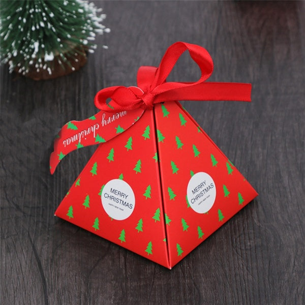 10 Pack Gift Package Creative Christmas Decor Paper Candy Box