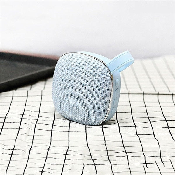Mini Bluetooth Speaker Fabric Art Subwoofer with FM Radio Support TF Card
