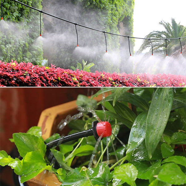 DIY Micro Drip Irrigation Self Plant Watering 25M Garden Hose System