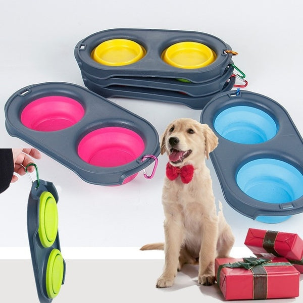Foldable Pet Dog Cat Bowl Feeding Water Silicone Bowl