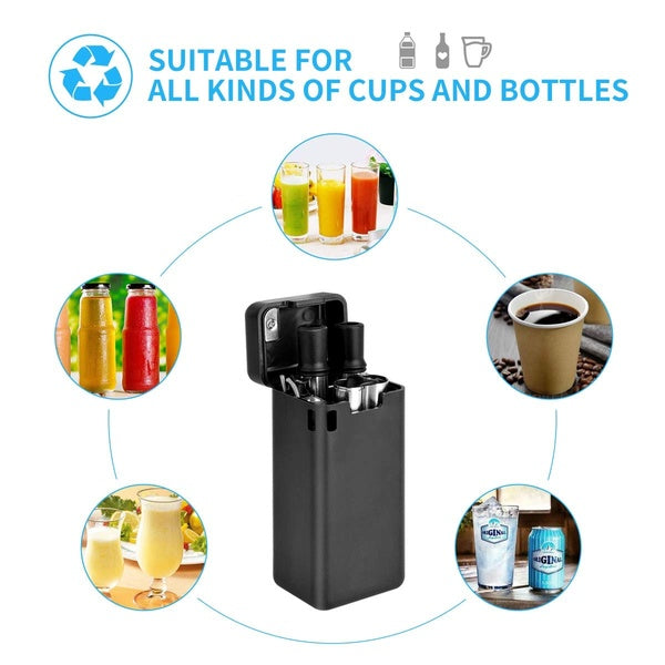 Collapsible Reusable Stainless Steel Folding Drinking Straws