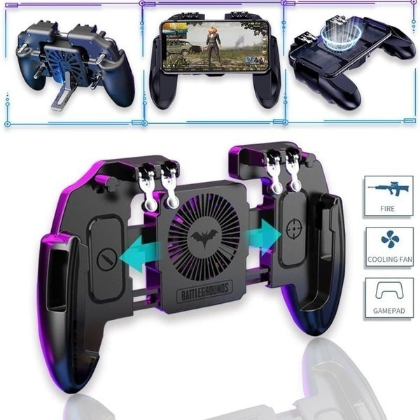 Multifunction Mobile Game Controller Handle with Cooling