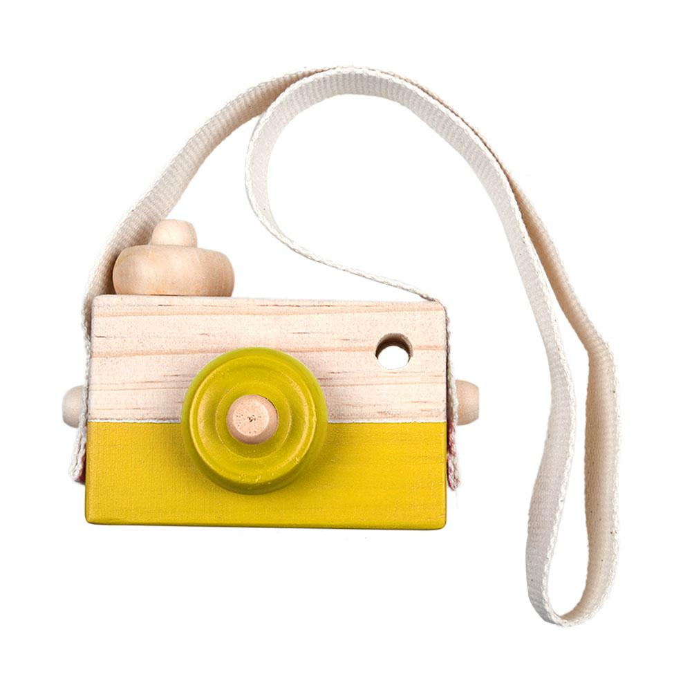 Kids Hanging Wooden Mini Camera Toy  Photography Prop
