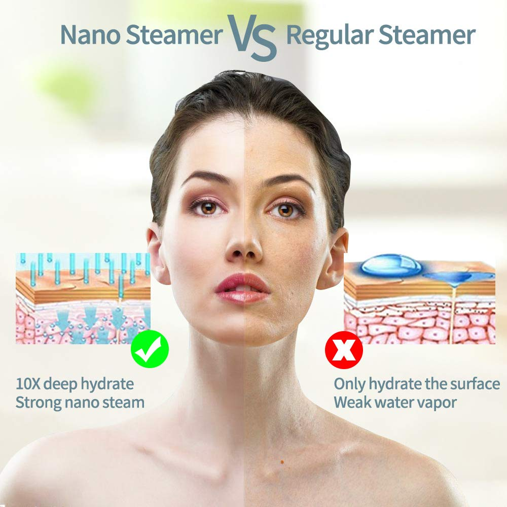 Deep Cleaning Nano Ionic Facial Cleanser Beauty Facial Steaming Sprayer Tool