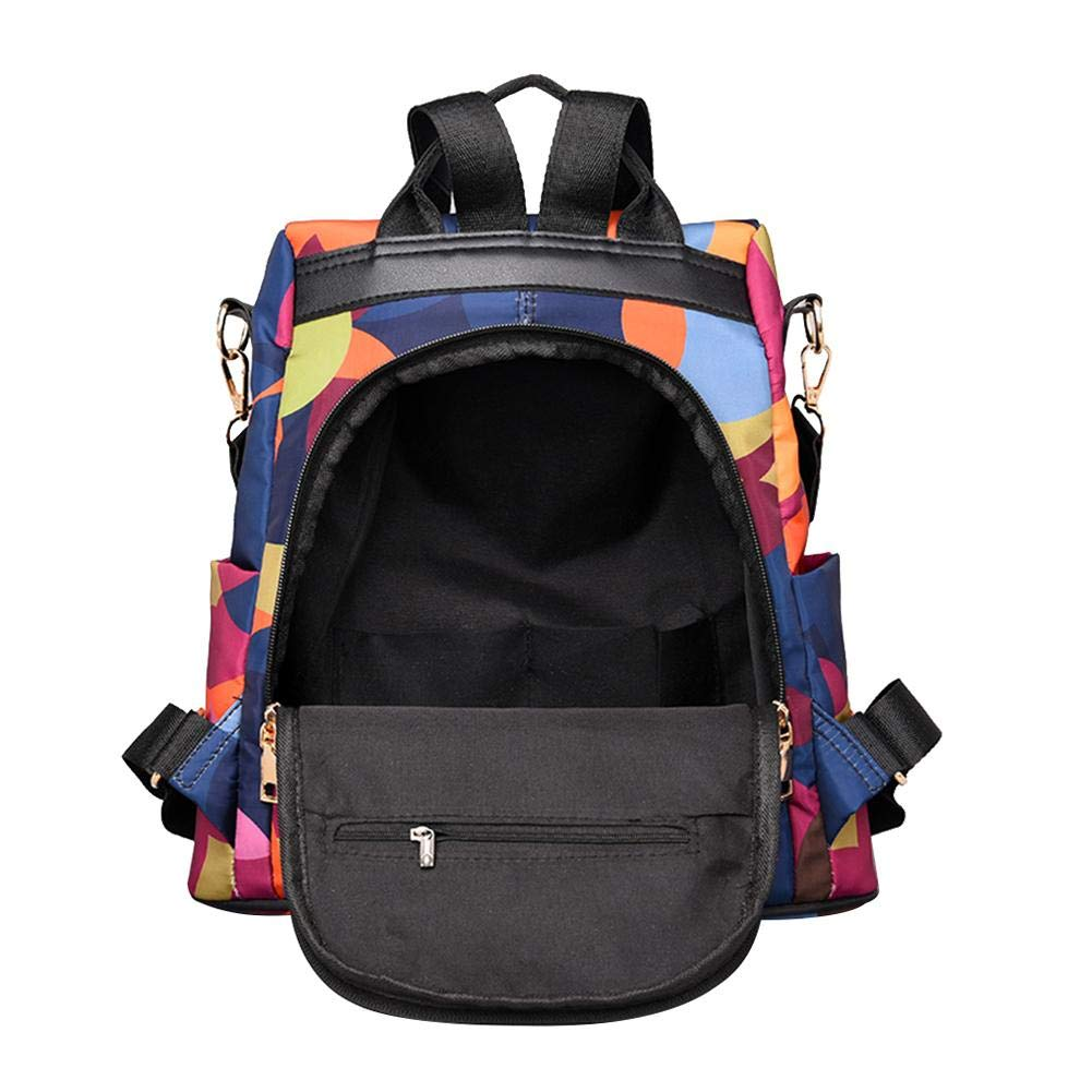 2 in 1 Women Oxford Multifunction Casual Backpacks Handbags