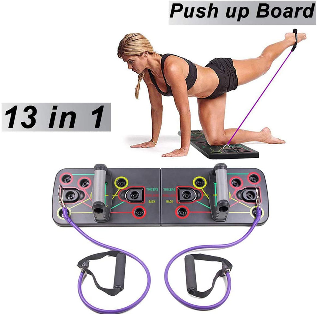 13 in 1 Push Up Rack Board with Pull Rope Gym Home Fitness Tool