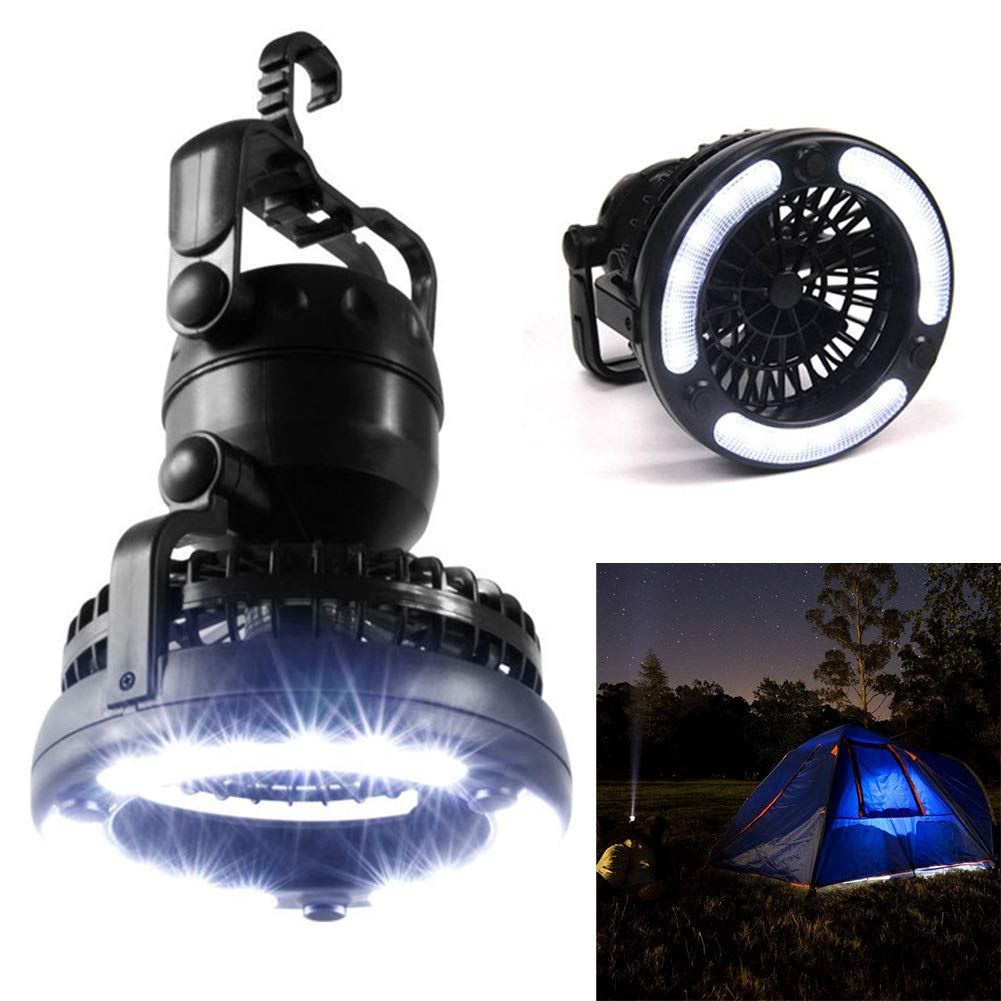 2 in 1 Portable 18 LED Light Camping  Lantern with Ceiling Fan Tent