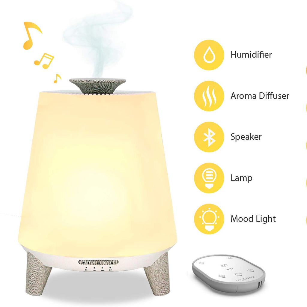 Bluetooth Baby Ultrasonic Air Humidifier with Remote Control Bedroom Night Light
