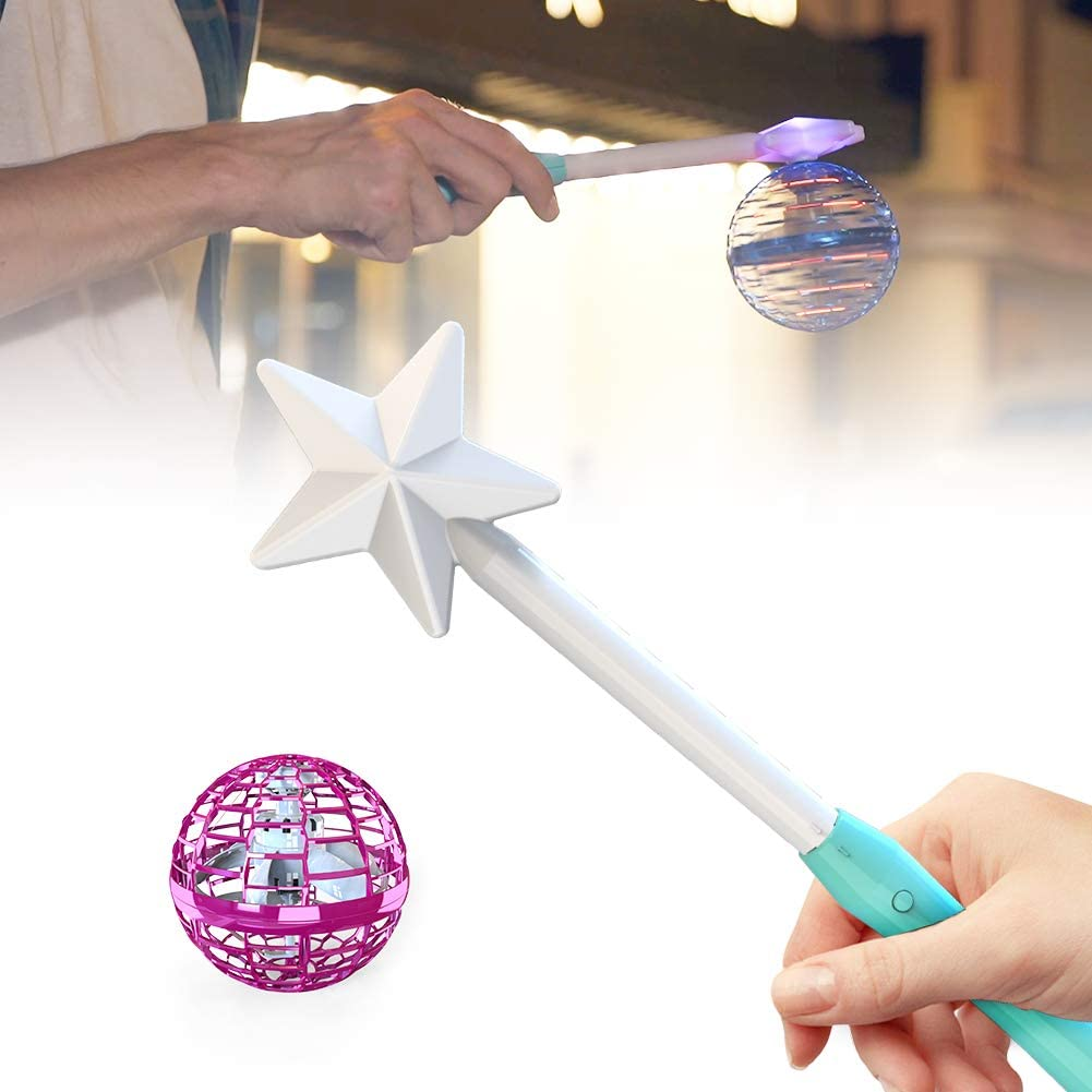 360°Rotating Inductive Motion Aircraft Flying Toy with Magic Controller