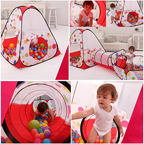 3 In 1 Baby Kids Play House Tent Tunnel Play Tent Toys