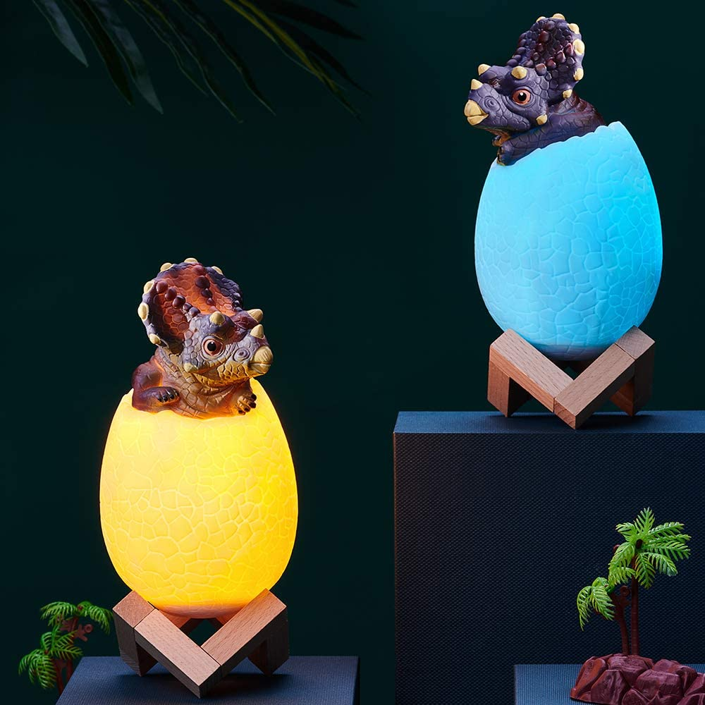 3D Dinosaur Egg LED Lamp 16 Colors Night Light with Remote Control