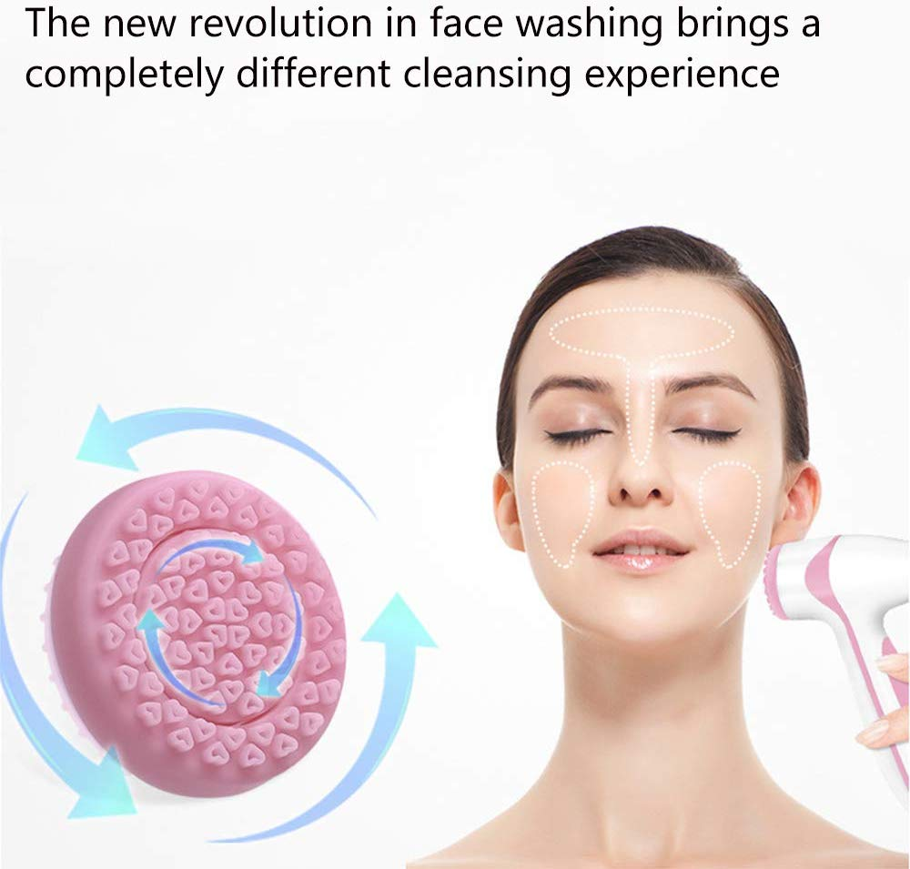Silicone Exfoliating Facial Cleansing Brush Blackhead Remover Pore Cleaning