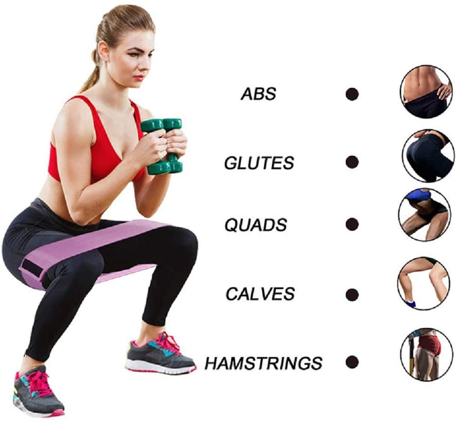 Booty Hip Bands High Resistance Workout Exercise Glute Band