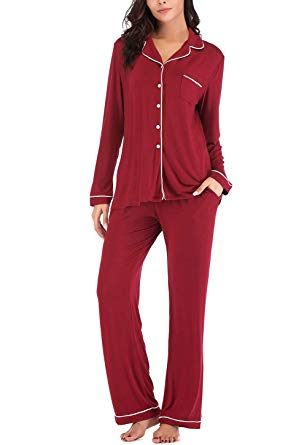 Women's Two-Piece Long Sleeve Pajama Sets  Sleepwear