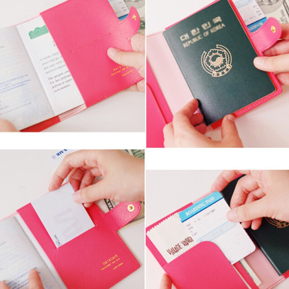 3 Pack PU Leather Travel Passport Cover ID Card Holder