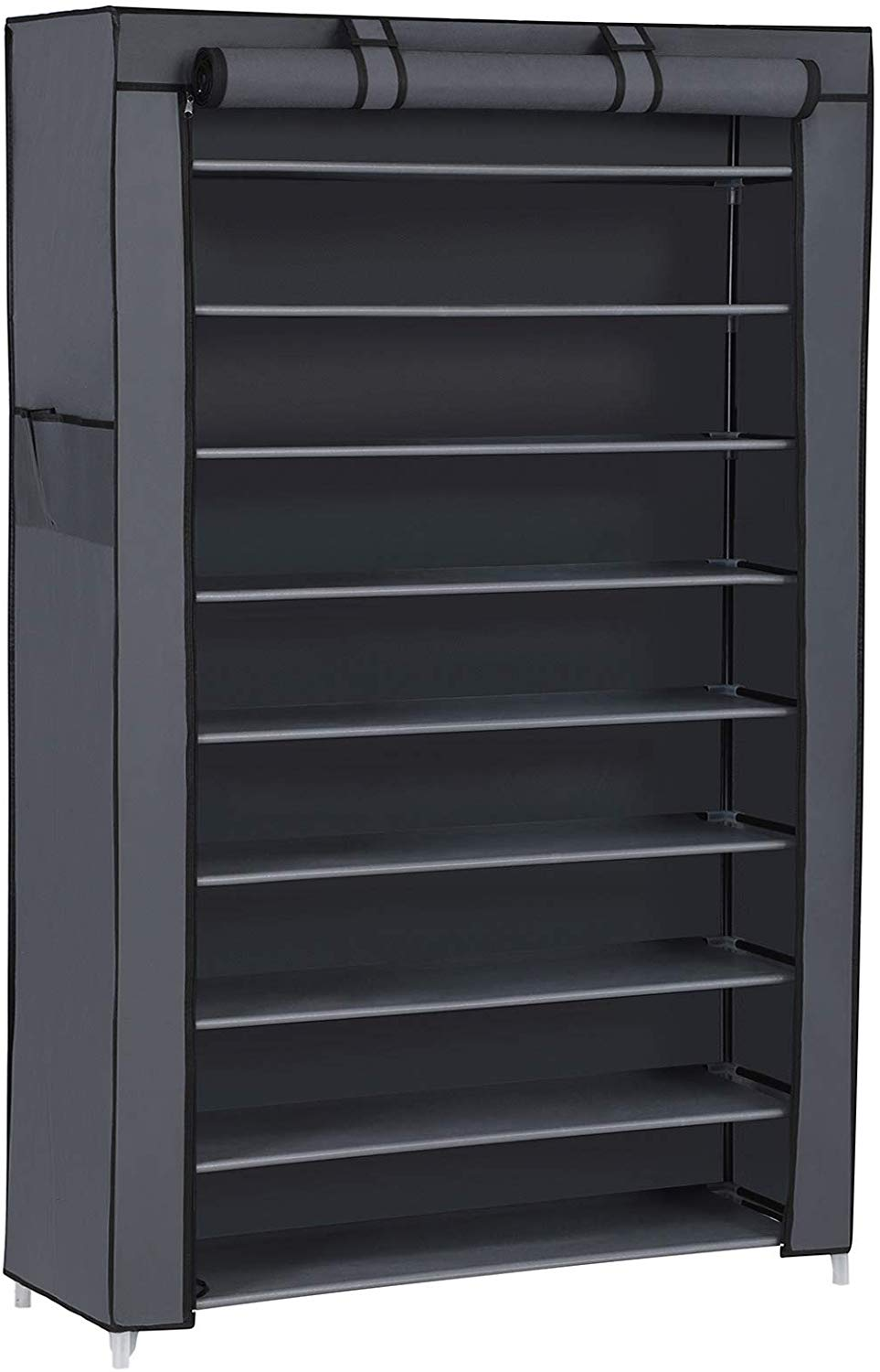 10 Tier up to 45 Pairs Adjustable Shoe Rack Cabinet Storage Organizer