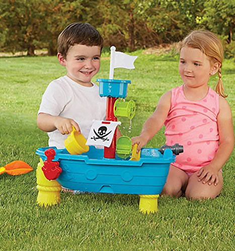 24-Piece Pirate Ship Boat Sand and Water Table Garden Sandpit Toy