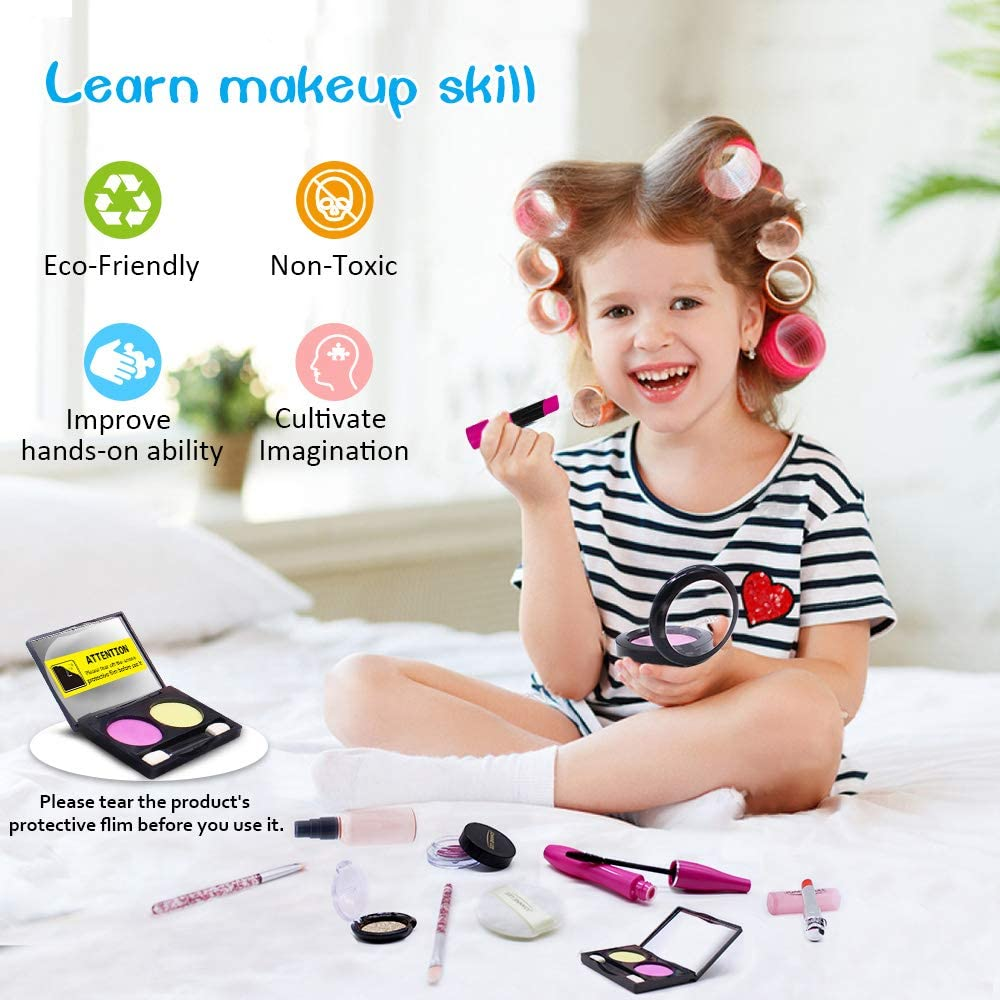 11PCS Pretend Makeup Toys Cosmetic Dress Up Play Set Gift