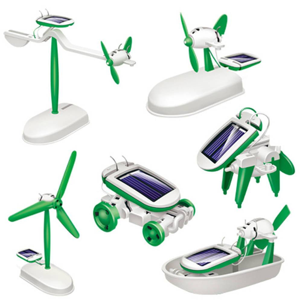 6 in 1 DIY Educational Learning Power Solar Robot Kit Toys - shopmeko