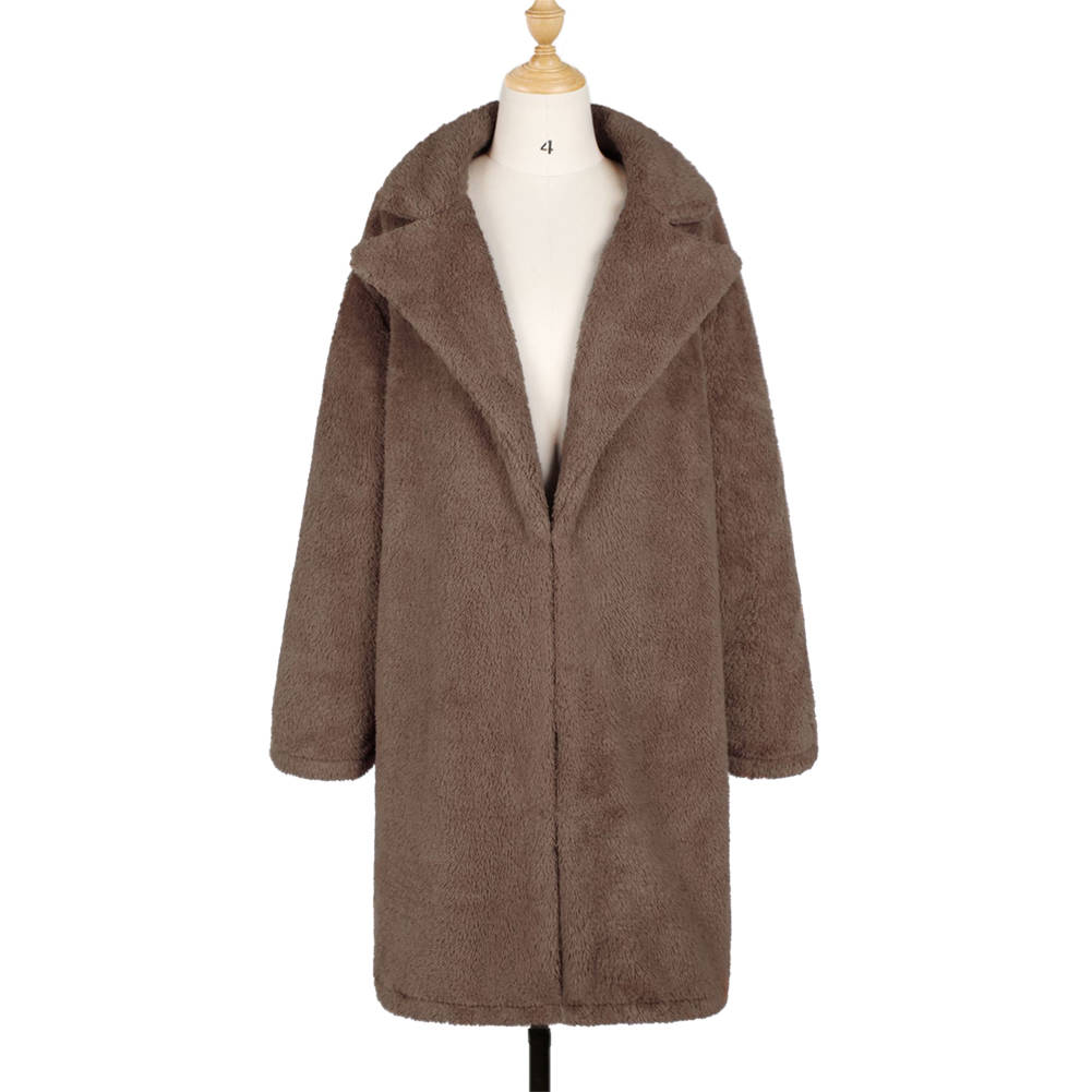 Women Winter Faux Fur Coat Teddy Bear Coat Plush Jacket