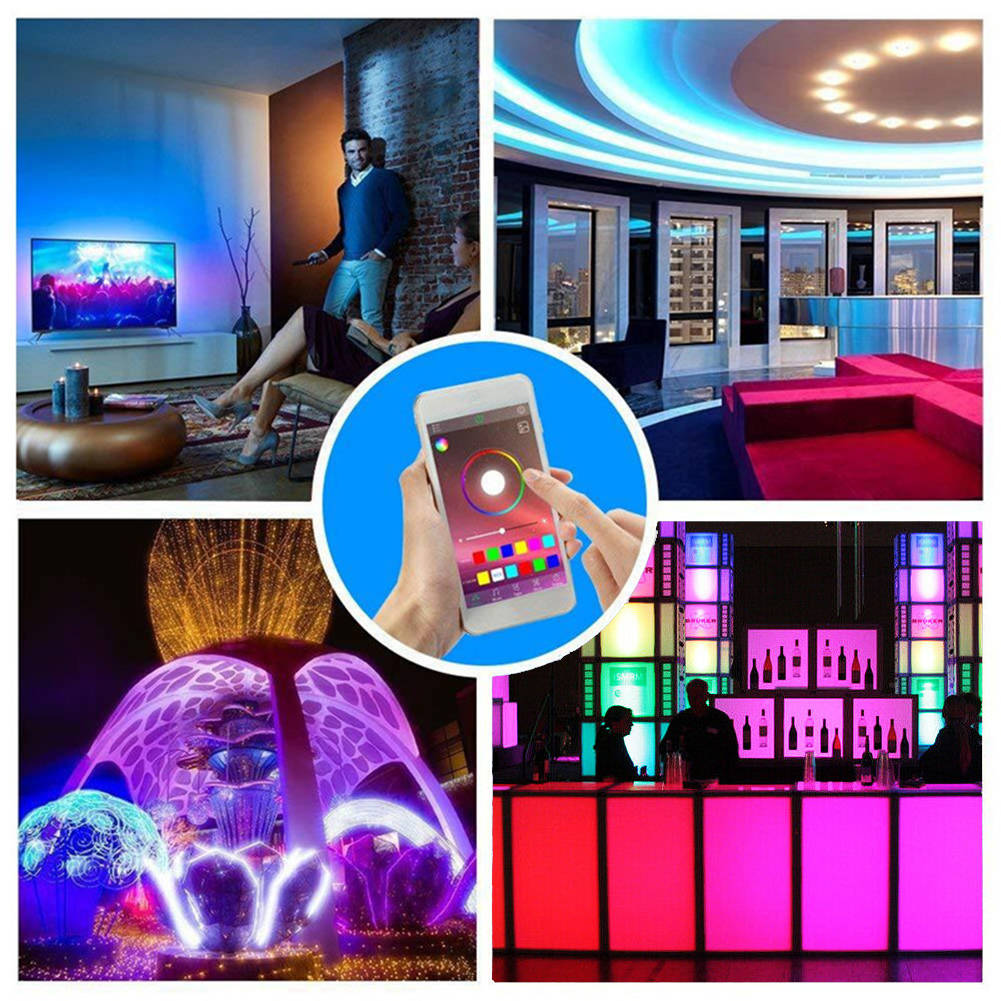 USB Powered RGB LED Strip Light Wireless Bluetooth Control