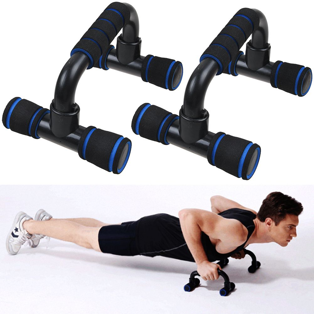 Pull Push Up Bars Press Stand Arm Chest Exercise Fitness Gym Foam Handles