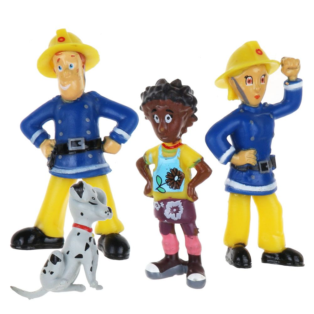 12Pcs/Set Fireman Sam Figure Toys 3-6cm Cute PVC Dolls Toy Elvis Norman Kid Gift