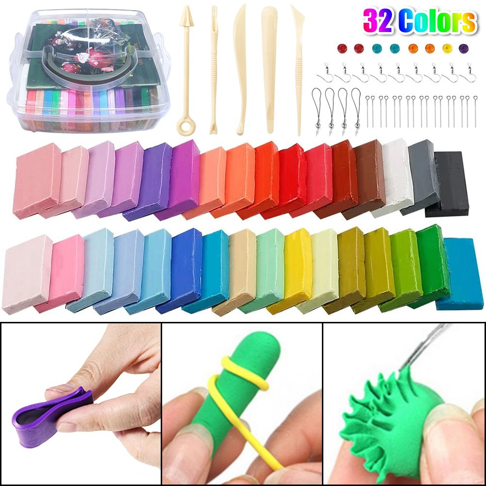 32 Colors DIY Polymer Clay Starter Kit
