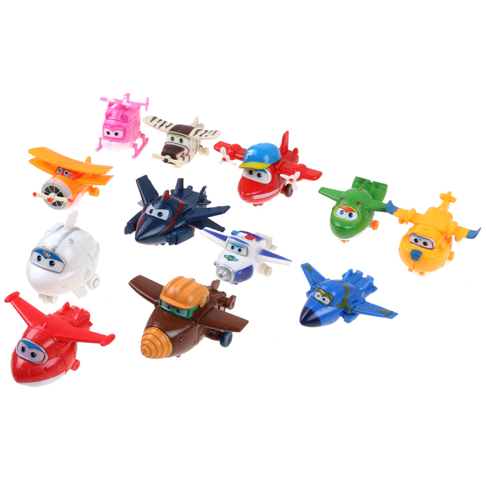 12PC Super Aircraft General Mobilization For The Decoration Of Toys For Children