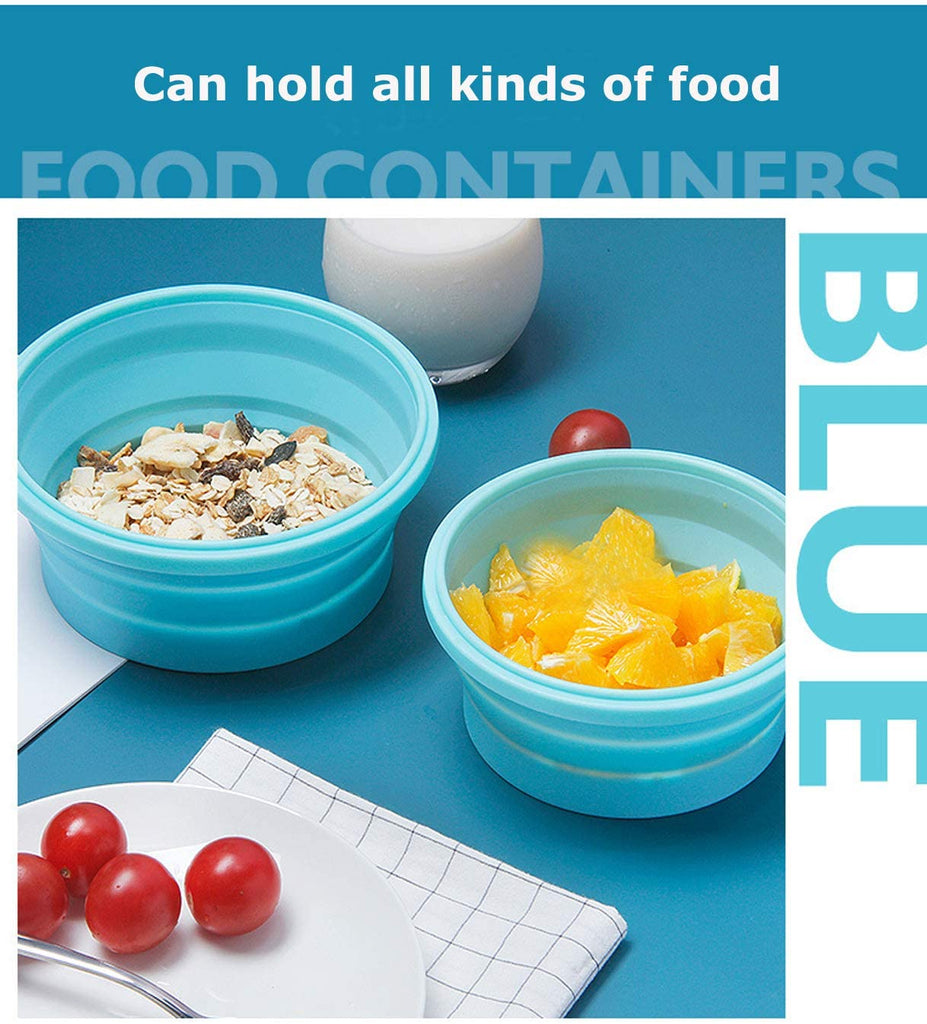 500ML & 800ML Collapsible Silicone Food Storage Containers Sealed Lunch Boxes