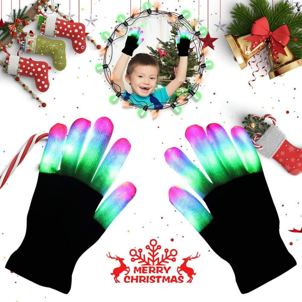 LED Rave Flashing Glove 7 Modes Light Up Finger Lighting - shopmeko