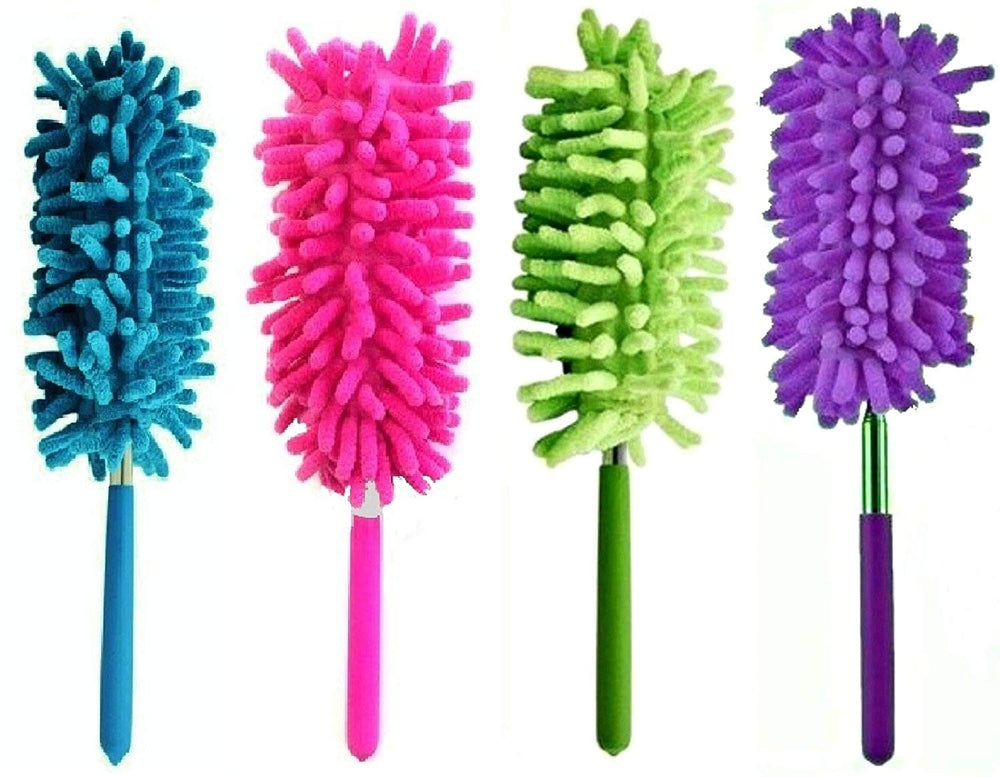 6 Pack Microfiber Extendable Dusters Brush Washable Dusting Brush