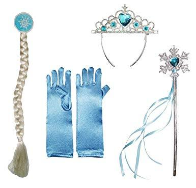 Frozen Ice Queen Princess Deluxe Fancy Costume Snowflakes Dress Accessories - shopmeko